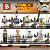Wholesale Star Wars Yoda Sith Trooper Admiral Ackbar Building Blocks Minifigure Legoland Model DIY Bricks Toys Figures SY195