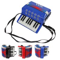 Wholesale Mini Educational Musical Instrument Key Bass Toy Accordion for Kids Children Black Blue Red MIA_664