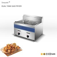 Wholesale Commercial Gas Fryer with Thermostat Control Valve