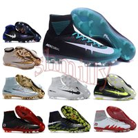 acc rubber - mens high ankle Football Boots Cristiano CR7 Mercurial Superfly V Soccer Shoes ACC magista Obra II FG Soccer Cleats men neymar Hypervenom