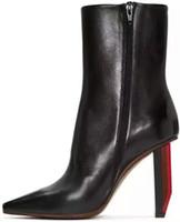 venda por atacado botas curtas-(Qualidade superior) versão personalizada mais leve VETEMENTS curto botas pequenas Newpineri camurça couro grande final