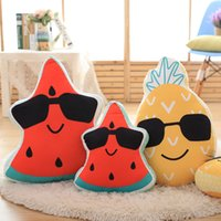 Wholesale cm Special offer Fruits pillow Watermelon and pineapple Creative stuffed toys high quality Early Childhood Education toys