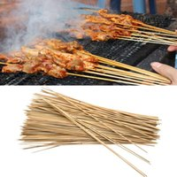 bbq bamboo skewers - Outdoor Camping Picnic Barbecue Picnic Natural BBQ Bamboo Skewers Picnic Accessories