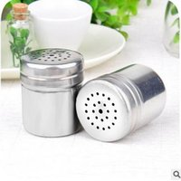 barbecue spices - Stainless steel seasoning cans kitchen household pepper bottles outdoor barbecue pepper cans metal seasoning bottles