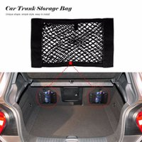 Wholesale Universal Car Seat Back Storage Mesh Net Bag cm CM Car Styling Lage Holder Pocket Sticker Trunk Organizer