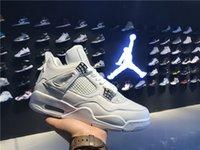 Air Retro 4s Jordan 4 Hombres Mujeres Jordans Baloncesto Zapatos Puro Dinero 308497-100 41-47