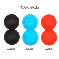 Relaxing ball back massage - Silicone Elastic Peanut Yoga Massage Massager Ball Rollers Back Trigger Point Therapy Sports Gym Release Excise Mobility Tools
