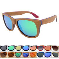 Wholesale Retro skateboard wood sunglasses women men s polarized driving sun glasses mirror shades uv400 gafas de sol