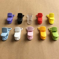 baby mam - Baby Toddler Soother Mam Infant Dummy Clips Chain mm Ribbon Plastic Pacifier Clip Holder Transparent Clip