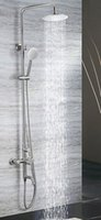 Wholesale shower set stainless steel green healthy material bath showerfaucet both hot and colod water chromed color