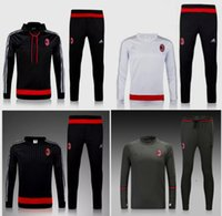 Wholesale Thai quality AC Milan soccer jersey AC Milan chandal With Cap Training football shirts