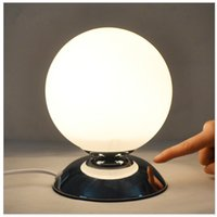ball lampshade - Carola Creative Bedside Lamp Glass lampshade Small Ball Table Lamp Night Light Table Lamp with LED Bulbs CM