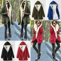 Wholesale 2XL Winter Women Coats Long Jacket Plus Velvet New Outwear Warm Down Coat Hooded Fur Thicken Parkas Slim Female Big Size H74