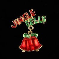 Wholesale 2016 new arrival brooches for women Alloy Drops of bells red letters semi precious stones