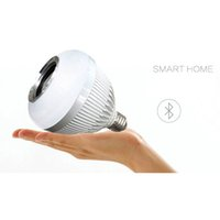 Wholesale 12W E27 Smart RGBW Wireless Bluetooth Speaker Bulb Music Playing Dimmable LED Bulb Light Lamp with Keys Remote Control