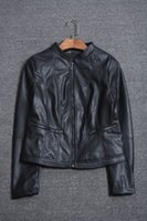 Wholesale Women winter fashion long sleeve faux leather stand collar casual jacket female trendy color plus size pu outerwear