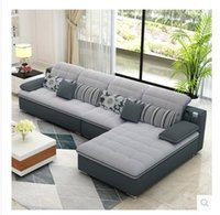 apartments furniture - Washable fabric sofa sofa combination large sized apartment simple modern living room style Royal Furniture sofa corner