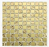 Wholesale Mosaic factory direct TV background wall crystal mosaic ceramic tile interior wall mosaic living room glass