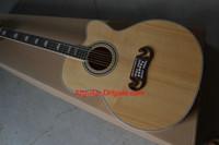 2017 nueva guitarra de la marca de fábrica SJ200 guitarra acústica cutaway natural de la madera en la acción guitarras de China