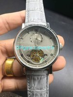 automatic strapping machines - Luxury fashion leather belt machine table gray gray surface of high end men s stainless steel watch Automatic Mens Watch Strap