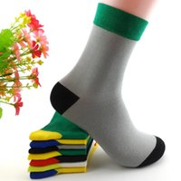 Wholesale Men s socks Pure Cotton socks sports fashion printing stripes thickening knitted socks Casual Stockings breathable autumn and winter
