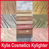 Wholesale Kylie Cosmetics Kylighter French Vanilla Cotton Candy Salted Carmel Highlighter Glow Face Makeup color Bronzers Highlighters