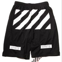 Wholesale new off white street fashion summer men short pants luxury male mesh breathable hip hop shorts size S XL