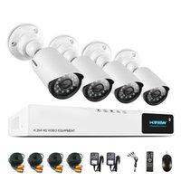 H.View 720P CCTV Système de caméra de sécurité CCTV Camera System CCTV 4CH AHD DVR 4 720P Caméra de sécurité Easy Smart Phone Access