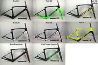 Wholesale 2017 New Foil Carbon Road Bike Frame UD Weave PF30 Bicycle Frameset racing bicycle frames size cm cm cm cm