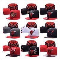Wholesale New Brand Hip Hop Bulls Gorras Snapback Caps Fashion Adjustable Basketball Baseball Cap Hat Bones Chicago