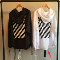 Wholesale Fall mens clothing hooded cloak Black designer long trench coat men nightclub fashion famous brand off white virgil abloh
