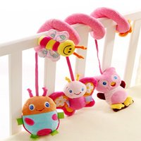bee sound - 2016 new arrival baby bed around rattle toy polyester plush animal bees sound music puzzle ability training toddler children Christmas birth