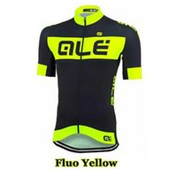 Wholesale Ropa Ciclismo Ale Cycling Jersey Short Sleeve shirt Men Summer Bicycle Clothing mtb bike maillot sports jersey Fluo Yellow Green A1302