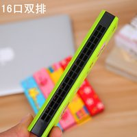 Wholesale Special offer points stationery wooden children double harmonica musical instruments students for teaching children enlightenment