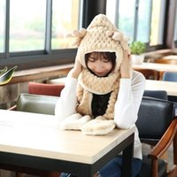 Wholesale Hat scarf glove three piece female winter thick warm winter scarf one of South Korean students birthday gift
