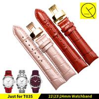 Bracelet de montre en cuir veau authentique Bracelet de montre pour Tissot T-Classic COUTURIER T035 T035210 Bracelet femme de montre 18mm + Free TOOLS