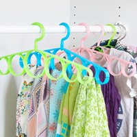 Wholesale 1pcs Multi port support circle clothes hanger clothes drying rack multifunction plastic scarf rack