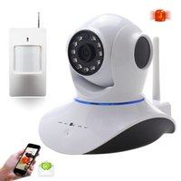 Wholesale Wireless Pan Tilt P Security Network CCTV IP Camera WIFI Webcam With PIR Sensor Wifi Camera Alarm