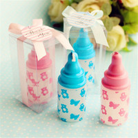 baptism favors candles - Mix Colors Birthday Party Baby Bottle Candles Favors Baby Shower Birthday Gifts Feeding Bottle Candle Baptism Favors