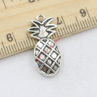antique jewelry sale - Hot Sale Antique Silver Pineapple Charms Pendants for Jewelry Making DIY Handmade Craft x12mm