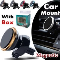 Wholesale Car Mount Air Vent Magnetic Universal Car Mount Phone Holder for iPhone Plus One Step Mounting Reinforced Magnet Easier Safer Driving
