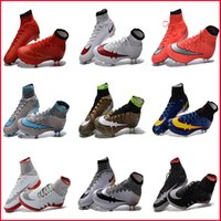 best nail shoes - 2017Wholesale Mens Best Soccer Boots Cleats Mercurial Superfly FG Nail Outdoor Soccer Shoes High Top Football Boots Cleats Red