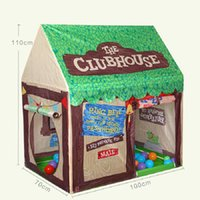 Wholesale Hot Castle Kids Play Game Tent Fun Playhouse Outdoor Tent Children Lovely Club House D170