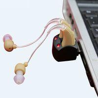 al por mayor envío libre del alibaba-Audífonos baratos de Alibaba más baratos Rechangeable S-109S BET Análogo Personal mejor amplificador de sonido dos auriculares Audiophone Free Shipping