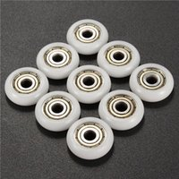 Wholesale 9pcs x21 x7mm Nylon Plastic Bearings Pulley Wheels Embedded Groove Ball Bearings