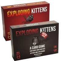 best fun games - 2017 new Exploding Kittens Board Game cards Fun Party Playing Cards Game Best Christmas Gift DHL send