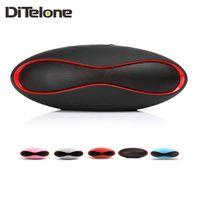 Wholesale DiTelone X6 Mini Speakers Wireless Football Bluetooth Subwoofer Music Player MP3 FM Radio Handsfree TF card For Phone