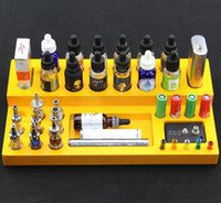 acrylic displayer case - Wooden display rack display stand showcase e cig display shelf retail store VS acrylic displayer case for e liquid e juice Patriot omega t