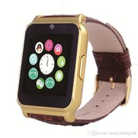 Wholesale Hot W90 NFC Smart Watch MP Camera Anti lost Full View Leather Band Support TF Card Pedometer Sleep Monitor for Android IOS Phone N BS