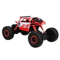 Vente en gros-1PC nouveau jouet rouge 1: 18 4WD Rock Crawler RC voiture 2.4GHz avec télécommande EU Plug au-dessus de 8Y pour Boy enfants Drop Shipping